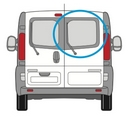 Renault Trafic 2014 onwards  O/S Privacy  Back Door(s) Window Glass