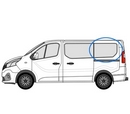 Renault Trafic 2014 onwards  L1 (SWB) N/S Privacy  Rear Window Glass