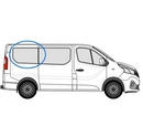 Renault Trafic 2014 onwards  L1 (SWB) O/S Privacy  Rear Window Glass