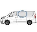 Renault Trafic 2014 onwards Half Slider N/S Privacy  Front Window Glass