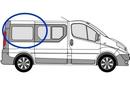 Vauxhall Vivaro 2001 - 2014  L1 (SWB) O/S Privacy  Rear Window Glass