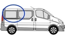 Vauxhall Vivaro 2001 - 2014  L1 (SWB) O/S SLD Privacy  Rear Window Glass