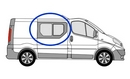Vauxhall Vivaro 2001 - 2014 Half Slider O/S Privacy  Front Window Glass