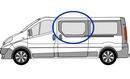 Vauxhall Vivaro 2001 - 2014  N/S SLD Privacy  Front Window Glass