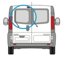 Vauxhall Vivaro 2014 onwards  N/S Privacy  Back Door(s) Window Glass