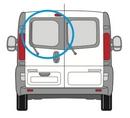 Nissan Primastar 2002 - 2014  N/S Privacy  Back Door(s) Window Glass