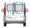 Nissan Primastar 2002 - 2014  O/S Privacy  Back Door(s) Window Glass