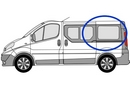 Nissan Primastar 2002 - 2014  L1 (SWB) N/S SLD Privacy  Rear Window Glass