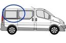 Nissan Primastar 2002 - 2014  L1 (SWB) O/S SLD Privacy  Rear Window Glass