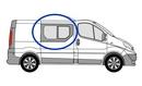 Nissan Primastar 2002 - 2014 Half Slider O/S Privacy  Front Window Glass