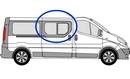 Nissan Primastar 2002 - 2014 Half Slider O/S SLD Privacy  Front Window Glass