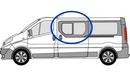 Nissan Primastar 2002 - 2014 Half Slider N/S SLD Privacy  Front Window Glass