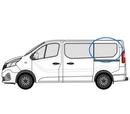 Nissan Primastar 2014 onwards  L3 (LWB) N/S Privacy  Rear Window Glass