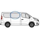 Nissan Primastar 2014 onwards Half Slider O/S Privacy  Front Window Glass