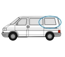 Volkswagen Transporter 1990 - 2003  L1 (SWB) N/S Privacy  Rear Window Glass