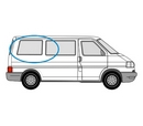 Volkswagen Transporter 1990 - 2003  L1 (SWB) O/S Privacy  Rear Window Glass