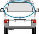 Volkswagen Transporter 1990 - 2003 Tailgate Green/Clear (non heated)  Back Door(s) Window Glass