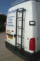 Rear Door Step Ladder for Larger Sized Vans (6 Step) - Galvanised 6 Step Ladder (Universal) - 1530mm Long
