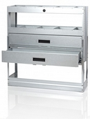 Galvanised Steel Racking Type B - 2 Drawer & 2 Shelf Unit with Dividers