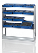 Galvanised Steel Racking Type H - 4 Shelf Unit with 12 Removable Trays