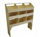 Birch Plywood Racking Type B - 400mm Depth - 6 Pigeon Hole Unit & Open Shelf