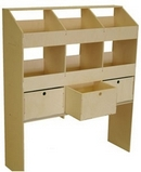 Birch Plywood Racking Type C - 400mm Depth - 6 Pigeon Hole Unit & 3 Drawers