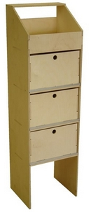Birch Plywood Racking type D - 400mm Depth - Slimline 3 drawer Unit