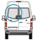 Merc Sprinter (06 on) - Passenger Side (N/S) Rear Door - PRIVACY ( Models) + Fixing Kit