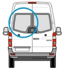 Volkswagen VW Crafter (06 on) - Passenger Side (N/S) Rear Door - PRIVACY ( Models) + Fixing Kit