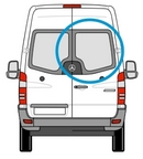 Volkswagen VW Crafter (06 on) - Drivers Side (O/S) Rear Door - PRIVACY ( Models) + Fixing Kit