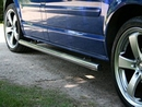 Polished Safety Side Bars with Chrome End Caps - Citroen Ducato /Boxer/Relay 2006 SWB