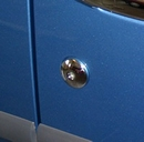 Stainless Steel Key Hole Cover Set of 5 - Ford Connect 2003