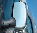 Pair of Diamond Chrome Mirror Covers - Ford Transit  RHD 2006 & 07