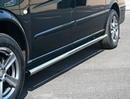 Safety Sidebars with Polished Chrome End Caps - Ford Transit  2000 - SWB - FWD