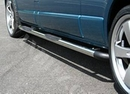 Full Frame Safety Side Steps Polished with Black End Corners - Ford Connect 2003 - LWB