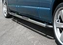 Full Frame Safety Side Steps Polished with Black End Corners - Ford Connect 2003 - LWB