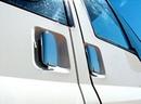 Stainless Steel Door Handle Cover Set - Ford Transit  2000-07 - Twin Sliding Door
