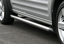 Safety Side Steps with Polished Black End Corners - Hyundai H200 - SWB