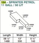 Water Tank - 50 Litre - Sprinter/ New LT - Petrol (F)