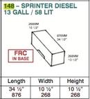 Water Tank - 54 Litre - Sprinter/ New LT - Diesel (F)