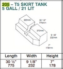 Water Tank - 27 Litre - Volkswagen VW T5 (2003 Onwards)