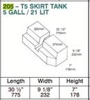 Water Tank - 27 Litre - Volkswagen VW T5 (2003 Onwards)