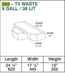 Water Tank - 38 Litre - VW T5 (2003 Onwards) (W)