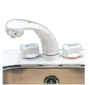 Mixer Combo Tap/ Shower & Wall Bracket (White/Beige)