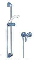 Elite Shower Riser Bar (Chrome/White)