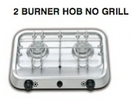 2 BURNER HOB (NO GRILL) with Piezo Ignition - 380mm x 280mm