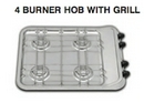 4 BURNER HOB (with 12v Ignition) WITH GRILL 470mm x 380mm