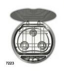 Integrated Round Sink/3 Burner Hob Unit