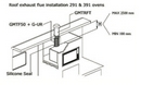 ROOF FLUE COWL - FOR 291 and 391 OVENS