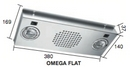 OMEGA FLAT 38CM STAINLESS COOKER HOOD 12V with Spotlights